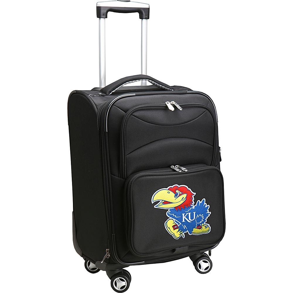 Denco Sports Luggage NCAA 20 Domestic Carry-On Spinner University of Kansas Jayhawks - Denco Sports Luggage Softside Carry-On - Luggage, Softside Carry-On