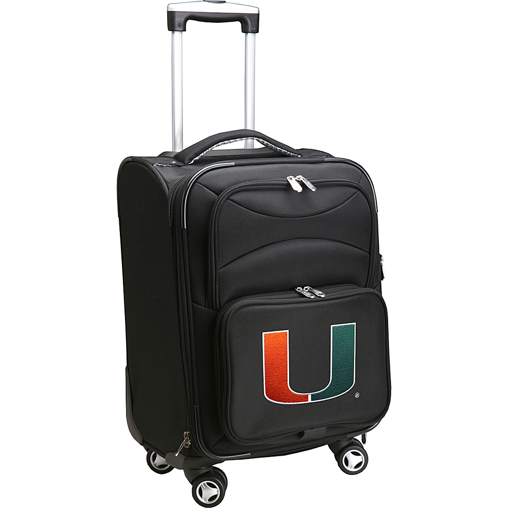Denco Sports Luggage NCAA 20 Domestic Carry-On Spinner University of Miami Hurricanes - Denco Sports Luggage Softside Carry-On - Luggage, Softside Carry-On