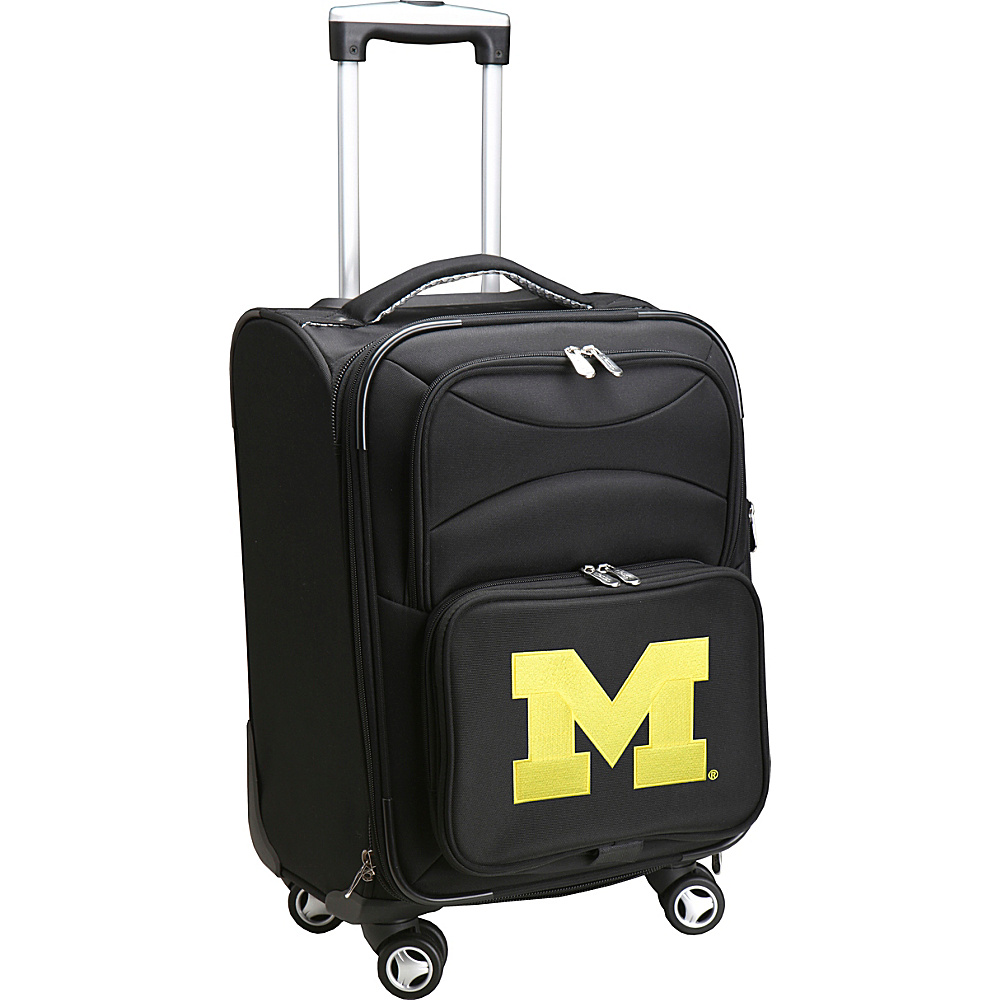 Denco Sports Luggage NCAA 20 Domestic Carry-On Spinner University of Michigan Wolverines - Denco Sports Luggage Softside Carry-On - Luggage, Softside Carry-On