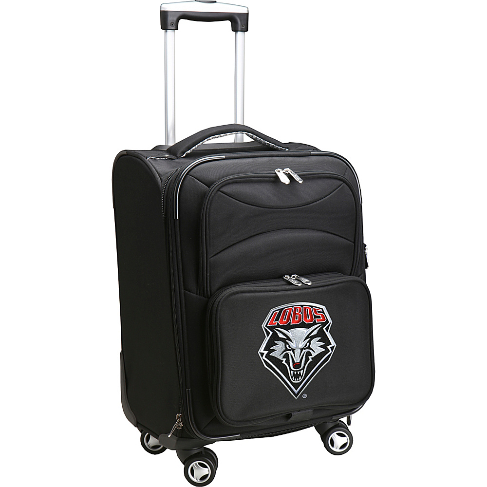 Denco Sports Luggage NCAA 20 Domestic Carry-On Spinner University of New Mexico Lobos - Denco Sports Luggage Softside Carry-On - Luggage, Softside Carry-On