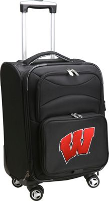 Denco Sports Luggage NCAA 20 inch Domestic Carry-On Spinner Black - Denco Sports Luggage Softside Carry-On