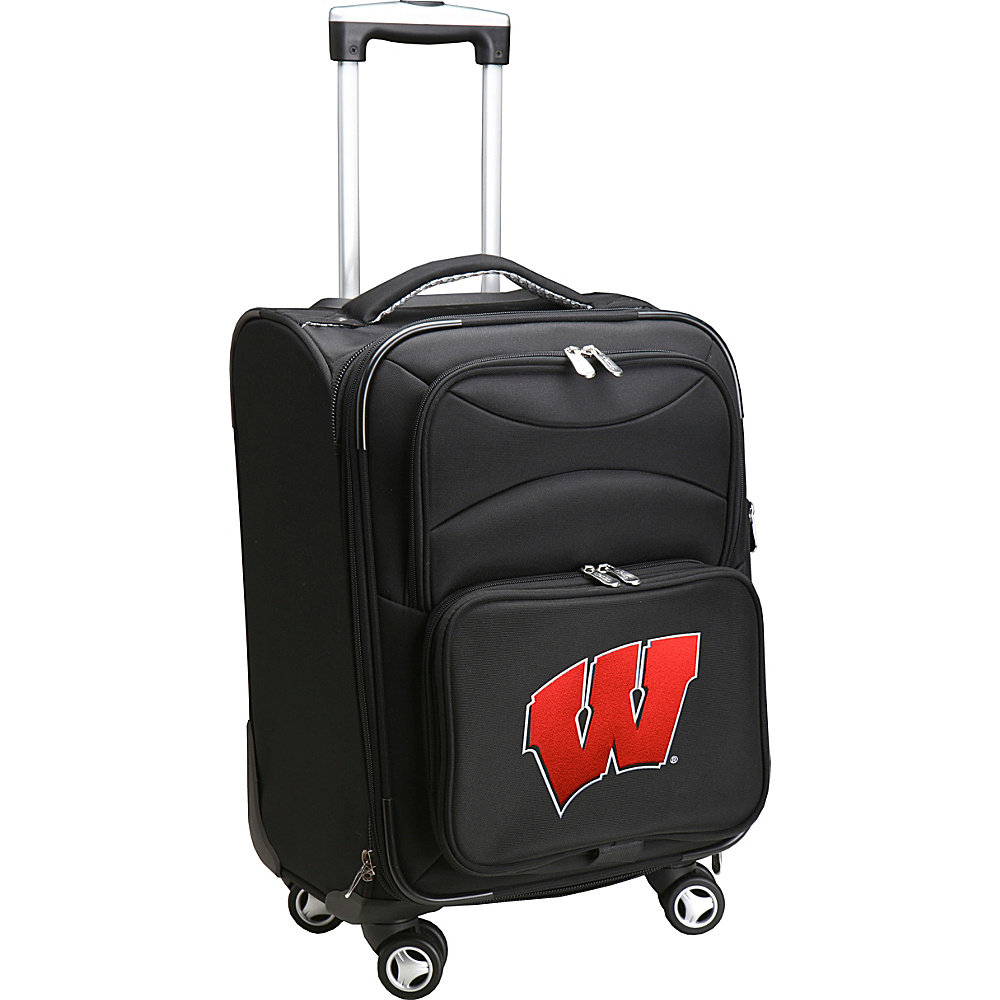 Denco Sports Luggage NCAA 20 Domestic Carry-On Spinner Black - Denco Sports Luggage Softside Carry-On - Luggage, Softside Carry-On