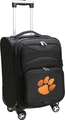Denco Sports Luggage NCAA 20 inch Domestic Carry-On Spinner Clemson University Tigers - Denco Sports Luggage Softside Carry-On