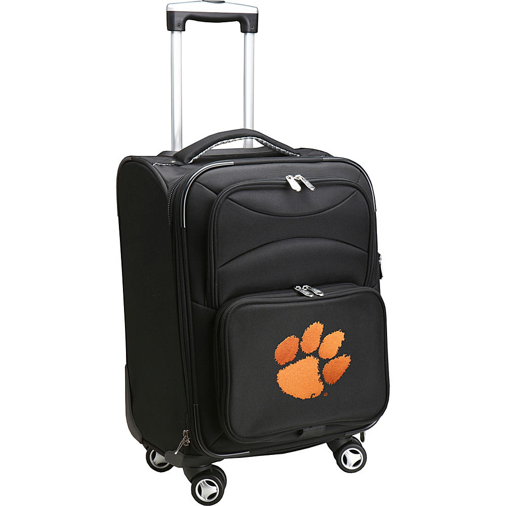 Denco Sports Luggage NCAA 20 Domestic Carry-On Spinner Clemson University Tigers - Denco Sports Luggage Softside Carry-On - Luggage, Softside Carry-On