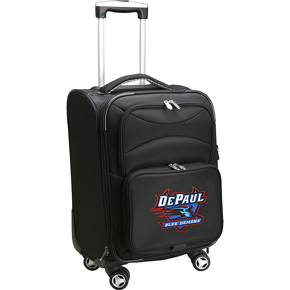 Denco Sports Luggage NCAA 20 Domestic Carry-On Spinner DePaul University Blue Demons - Denco Sports Luggage Softside Carry-On - Luggage, Softside Carry-On