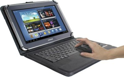 Digital Treasures Props Universal Keyboard Case for 7/8 inch Tablets Black