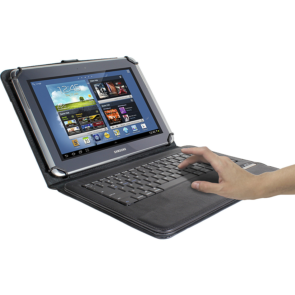 Digital Treasures Props Universal Keyboard Case for 7 8 Tablets Black BK Digital Treasures Electronic Cases