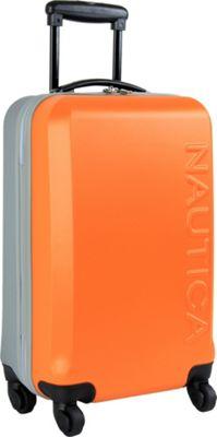 Nautica Ahoy 25 inch Hardside Spinner Orange/Silver/Silver - Nautica Hardside Checked