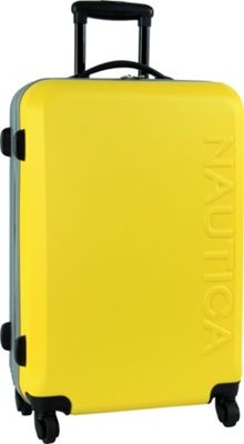 Nautica Ahoy 25 inch Hardside Spinner Yellow/Silver/Silver - Nautica Hardside Checked