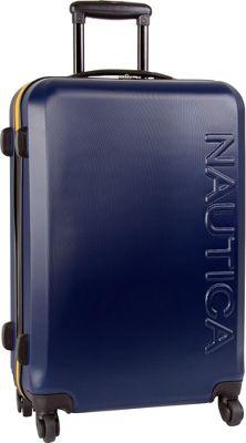 Nautica Ahoy 25 inch Hardside Spinner Navy/Navy/Yellow - Nautica Hardside Checked