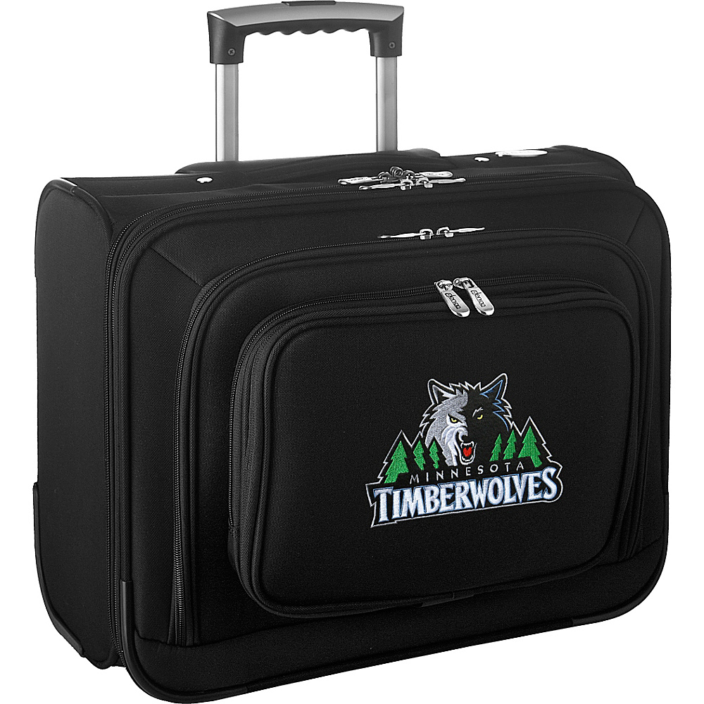 Denco Sports Luggage NBA 14 Laptop Overnighter Minnesota Timberwolves - Denco Sports Luggage Wheeled Business Cases - Work Bags & Briefcases, Wheeled Business Cases