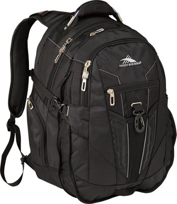 High Sierra XBT Laptop Backpack Black - High Sierra Business & Laptop Backpacks