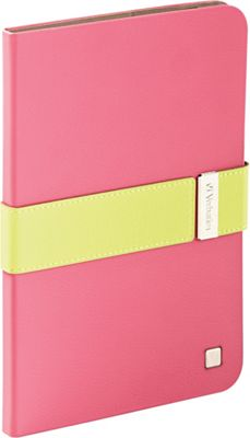 Verbatim Folio Signature for iPad Mini and iPad mini with Retina Display Pink/Green - Verbatim Electronic Cases