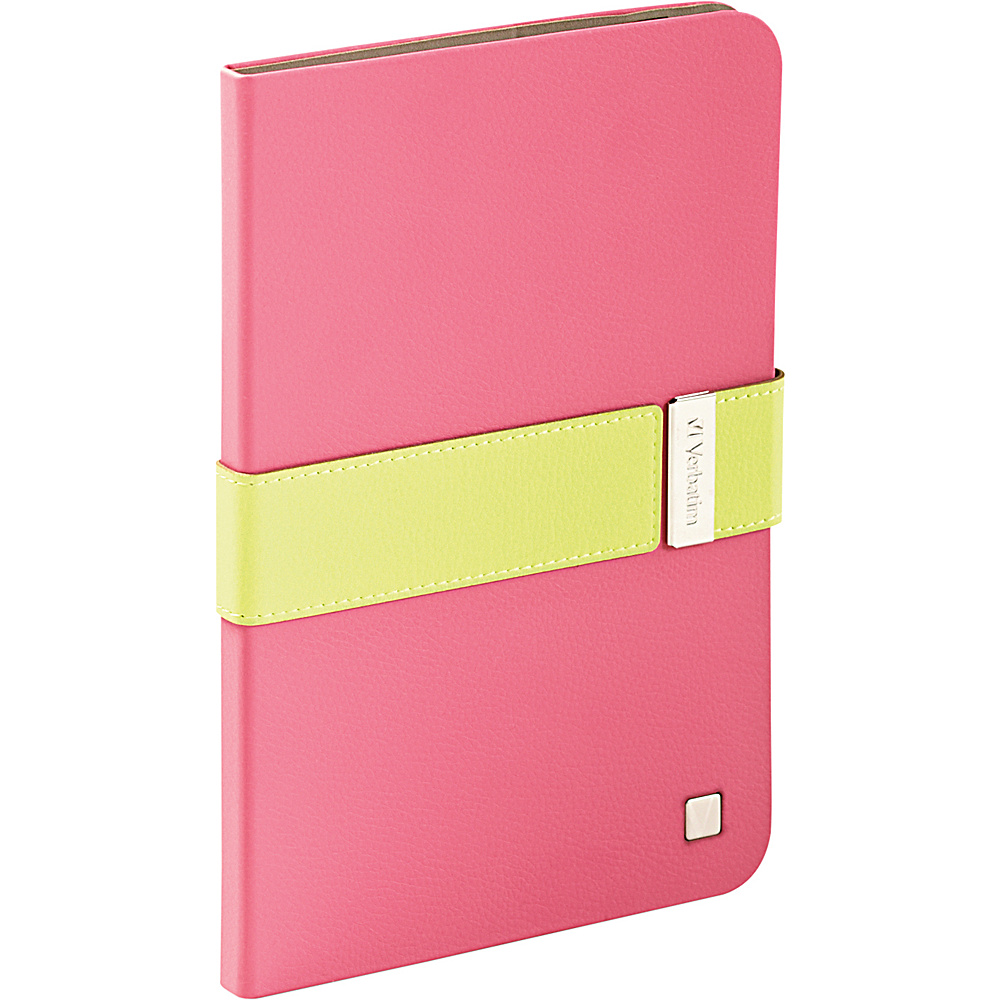 Verbatim Folio Signature for iPad Mini and iPad mini with Retina Display Pink Green Verbatim Electronic Cases