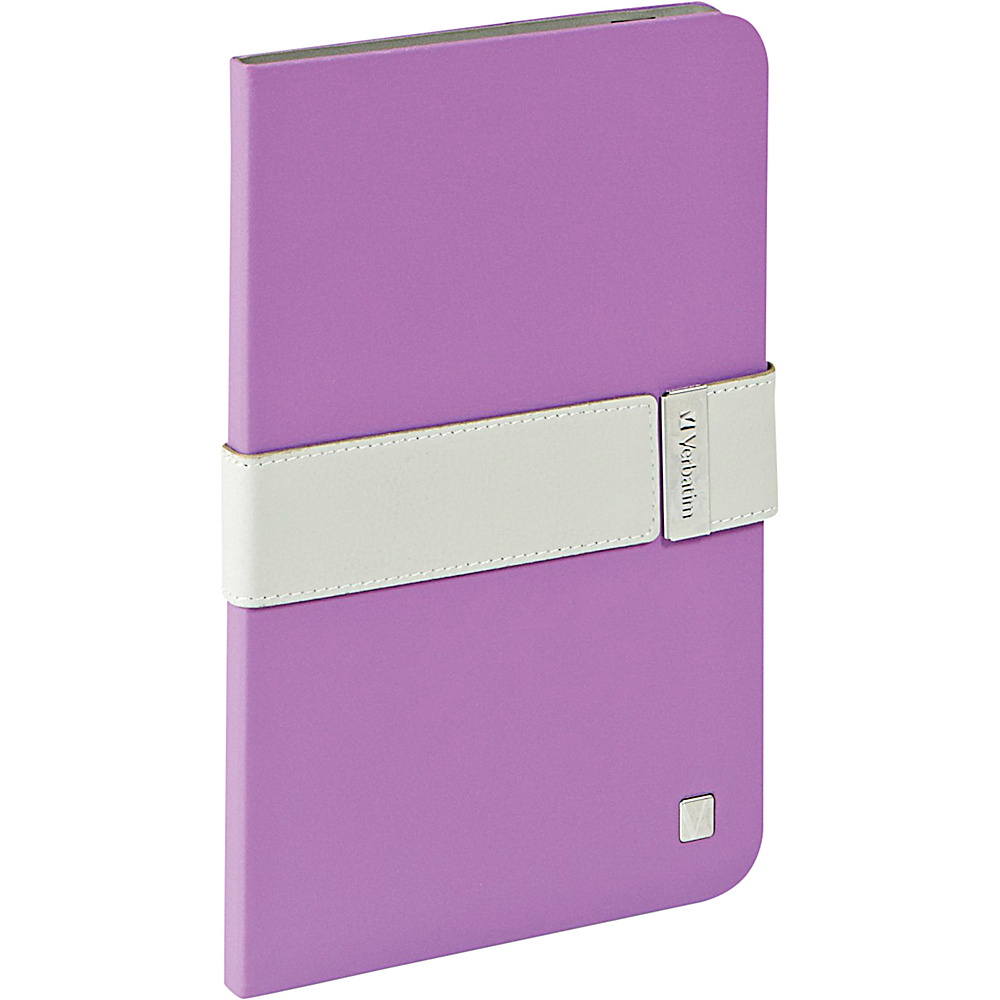 Verbatim Folio Signature for iPad Mini and iPad mini with Retina Display Purple Grey Verbatim Electronic Cases
