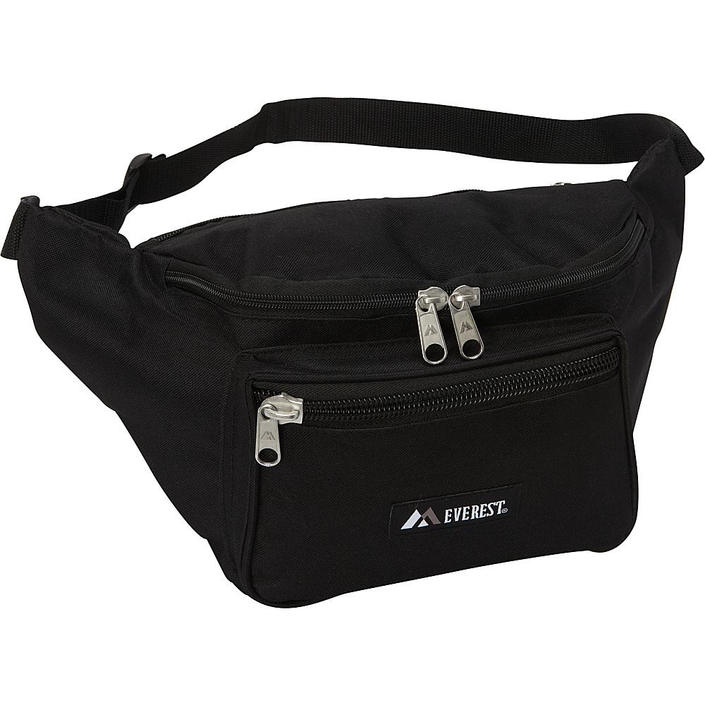 Everest Signature Waist Pack - Medium Black - Everest Waist Packs - Backpacks, Waist Packs