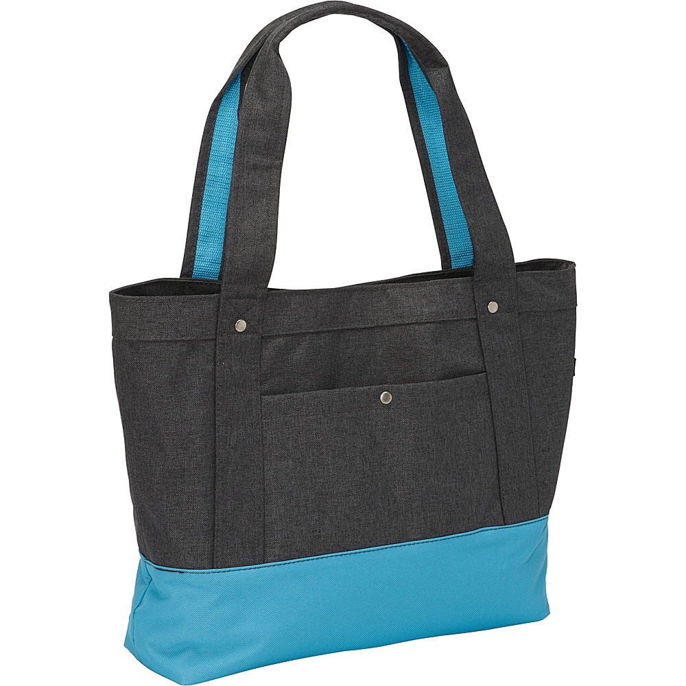 Everest Stylish Tablet Tote Bag Charcoal/Blue - Everest Fabric Handbags - Handbags, Fabric Handbags