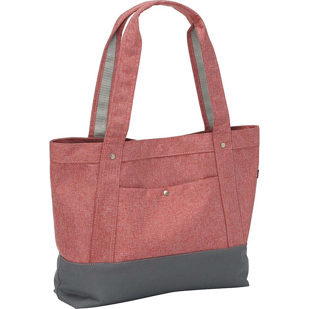 Everest Stylish Tablet Tote Bag Coral/Grey - Everest Fabric Handbags