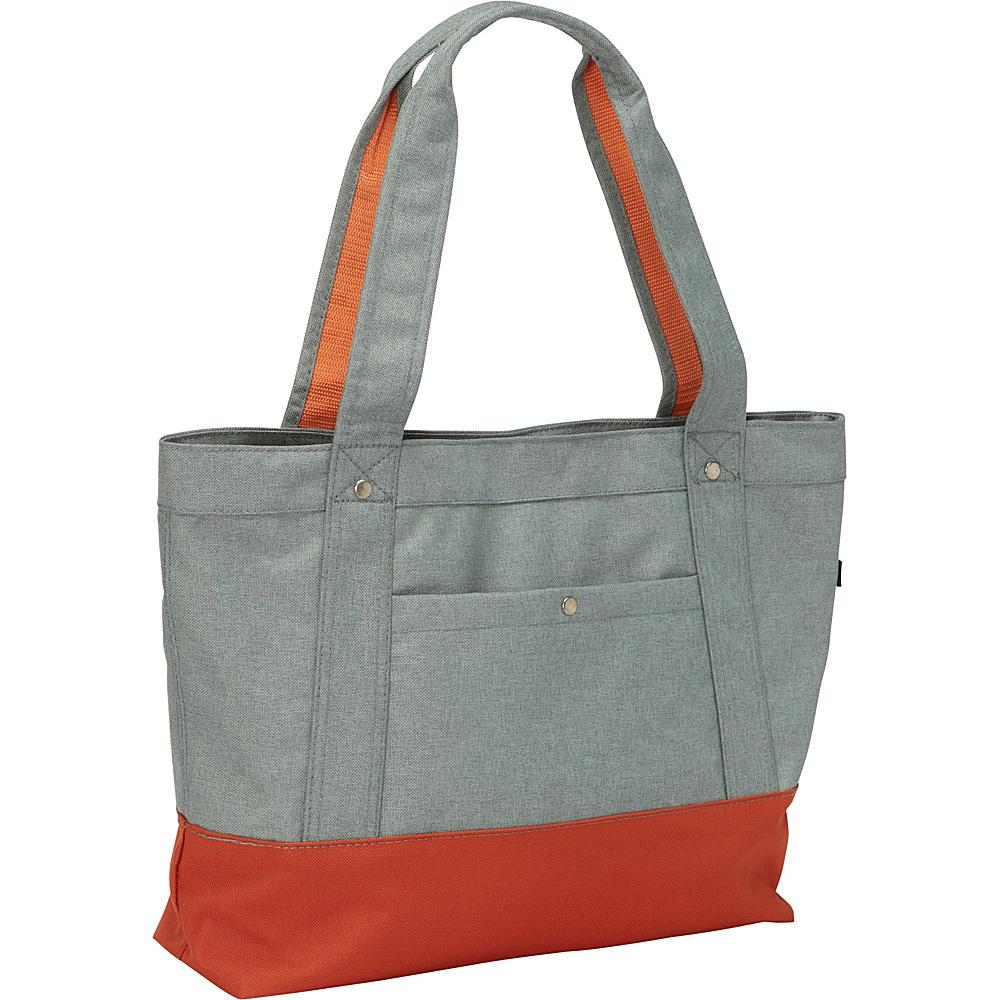 Everest Stylish Tablet Tote Bag Jade/Rust Orange - Everest Fabric Handbags - Handbags, Fabric Handbags