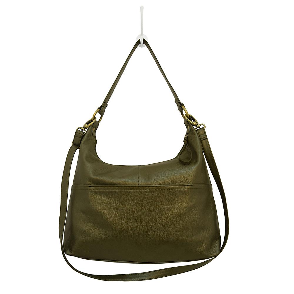 Latico Leathers Roberta Hobo Metallic Olive - Latico Leathers Leather Handbags - Handbags, Leather Handbags
