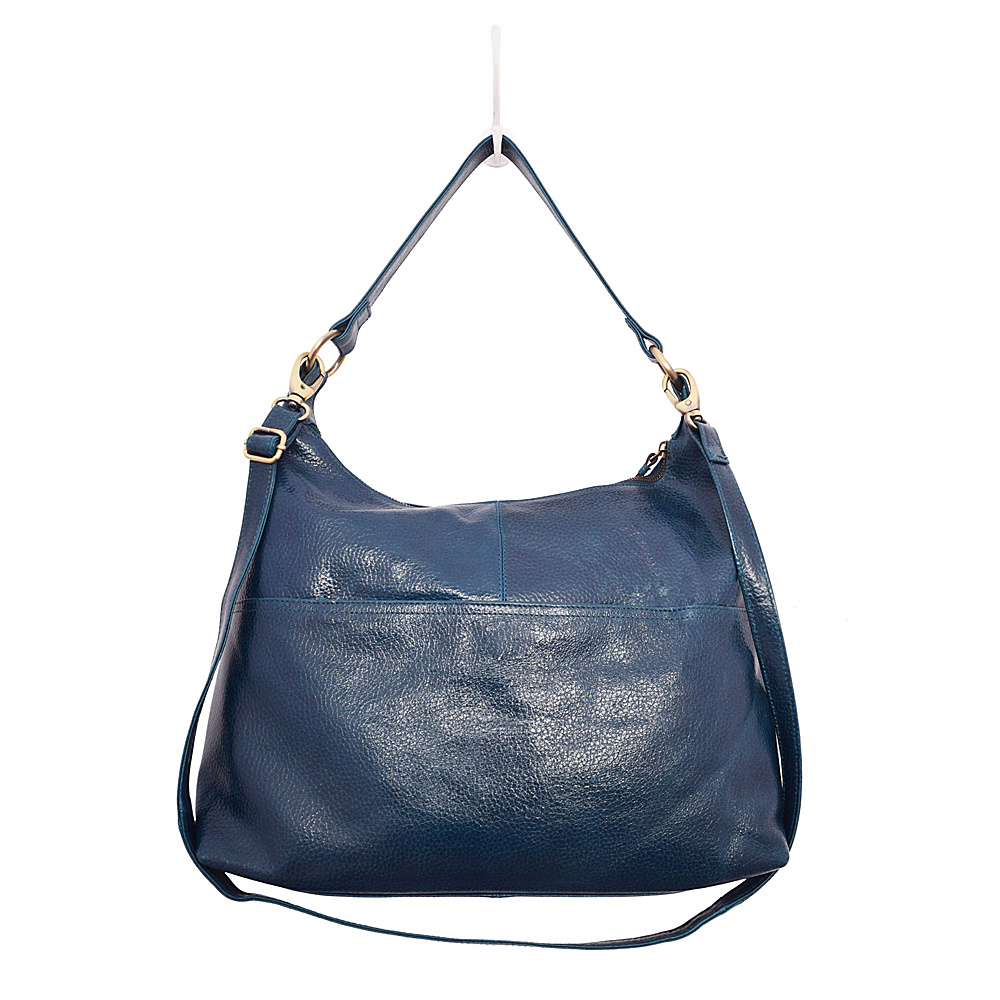 Latico Leathers Roberta Hobo Pebble Navy - Latico Leathers Leather Handbags - Handbags, Leather Handbags