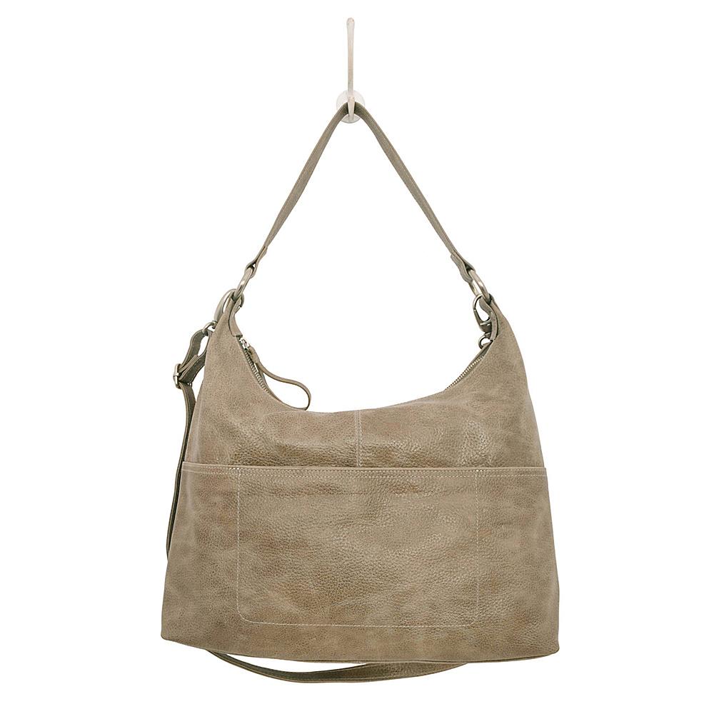 Latico Leathers Roberta Hobo Pebble Steel - Latico Leathers Leather Handbags - Handbags, Leather Handbags