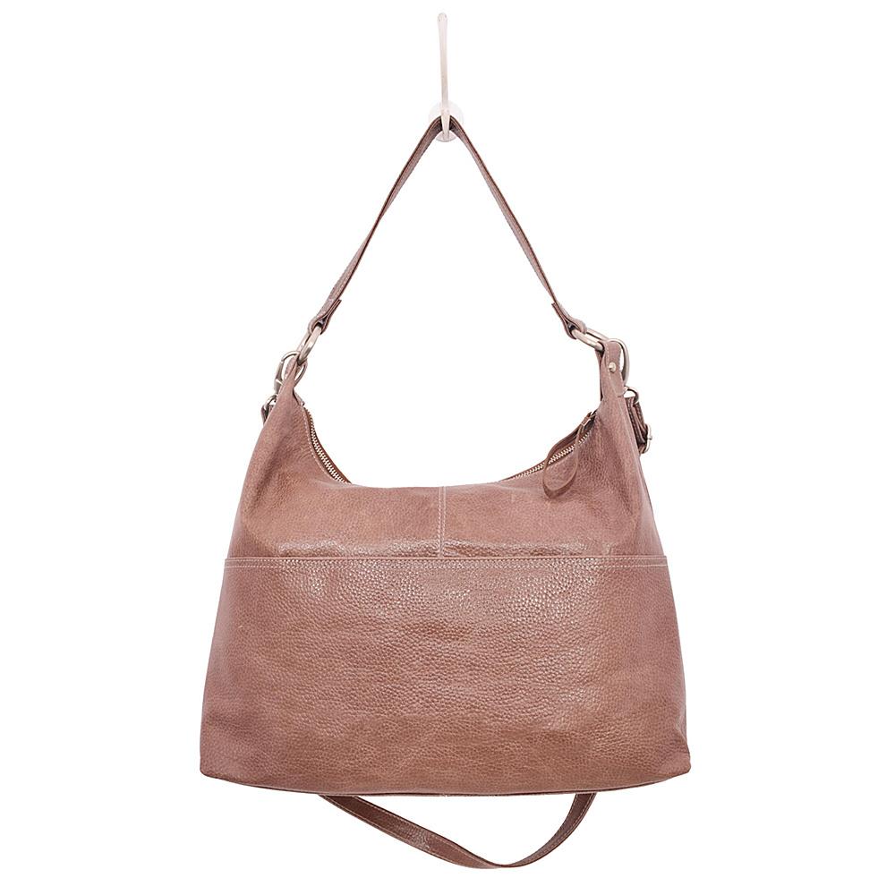 Latico Leathers Roberta Hobo Pebble Taupe - Latico Leathers Leather Handbags - Handbags, Leather Handbags