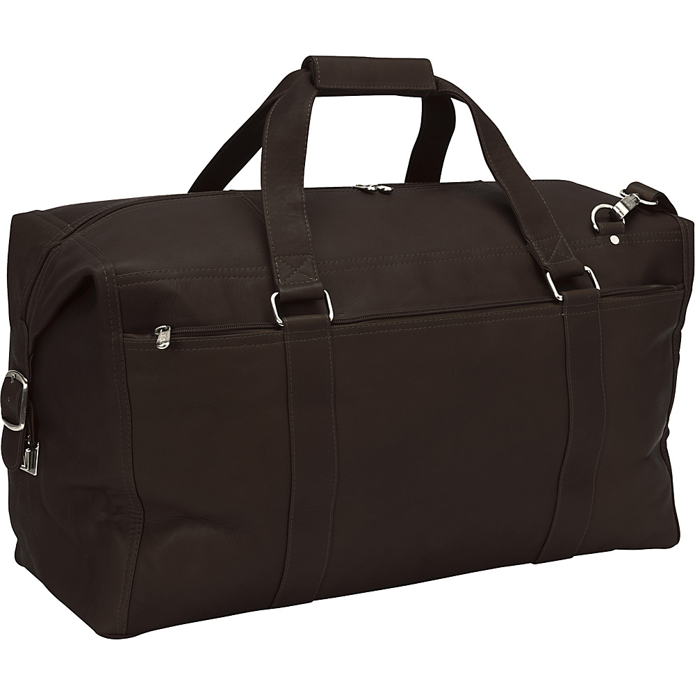 Piel Extra Large Zip-Pocket Duffel Chocolate - Piel Rolling Duffels - Luggage, Rolling Duffels