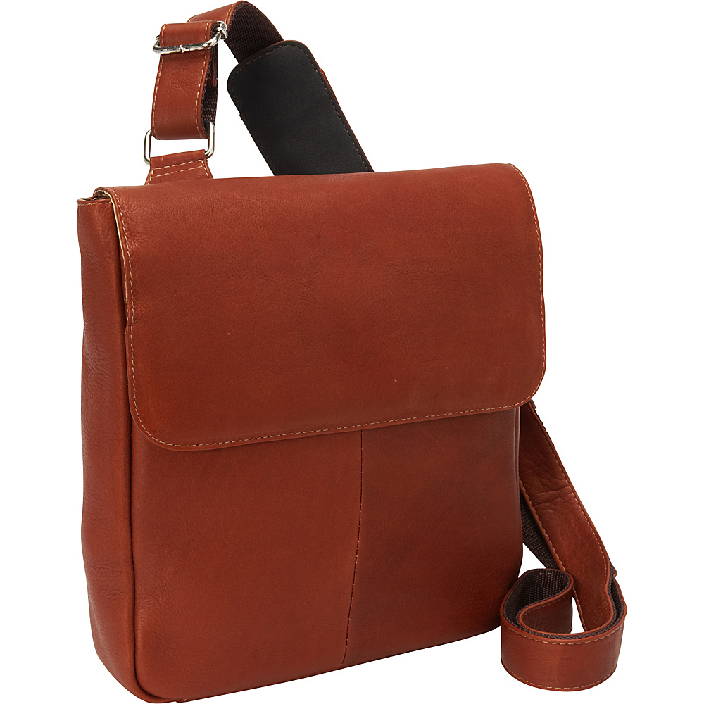 Piel Crossbody Tablet Bag Saddle - Piel Messenger Bags - Work Bags & Briefcases, Messenger Bags