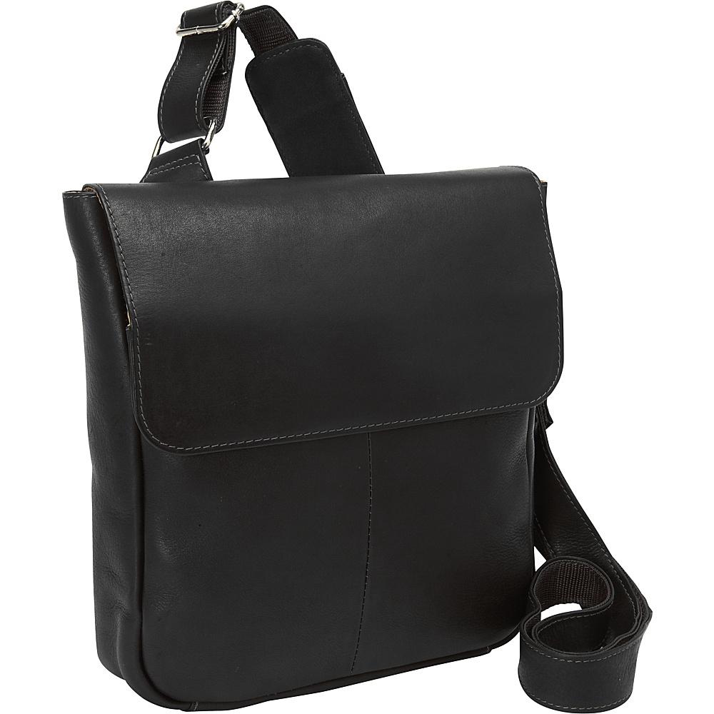 Piel Crossbody Tablet Bag Black - Piel Messenger Bags