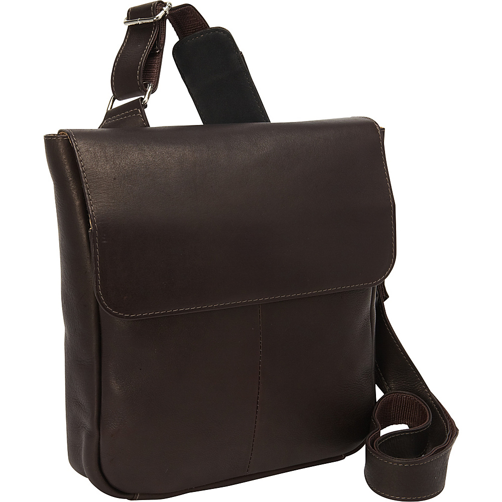 Piel Crossbody Tablet Bag Chocolate - Piel Messenger Bags - Work Bags & Briefcases, Messenger Bags
