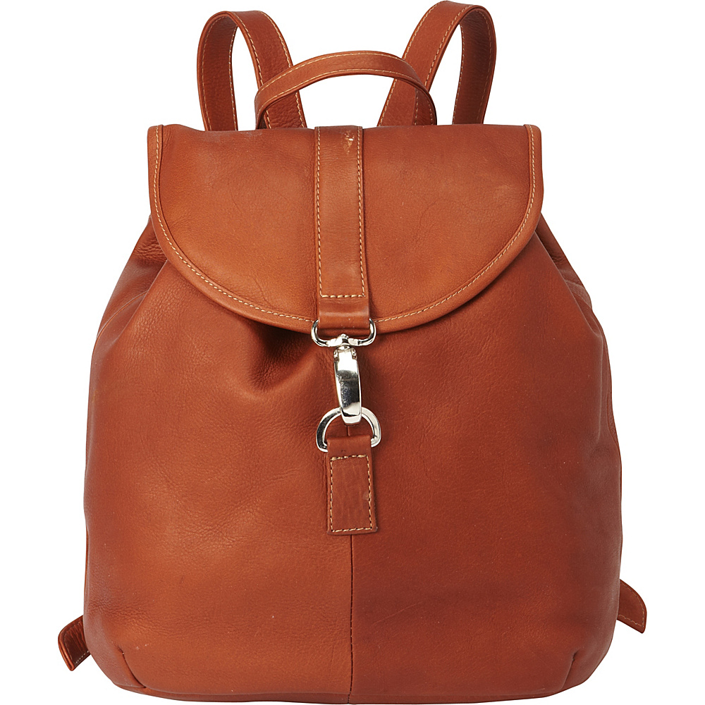 Piel Medium Drawstring Backpack Red - Piel Leather Handbags