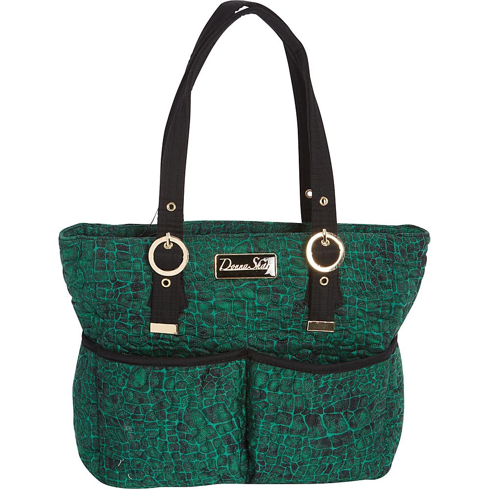 Donna Sharp Elaina Bag - Quilted Jade - Donna Sharp Fabric Handbags