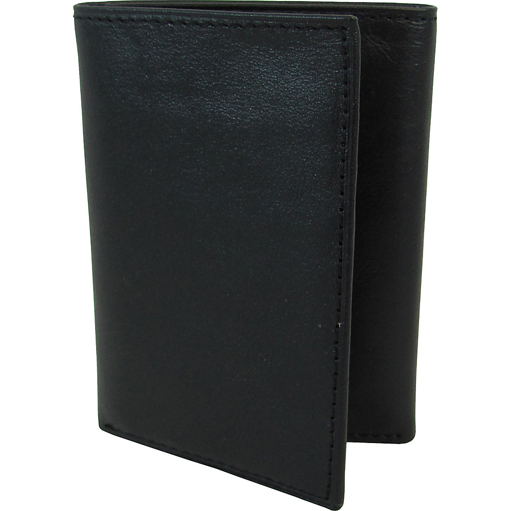 AmeriLeather Leather Tri Fold Wallet Black - AmeriLeather Mens Wallets - Work Bags & Briefcases, Men's Wallets