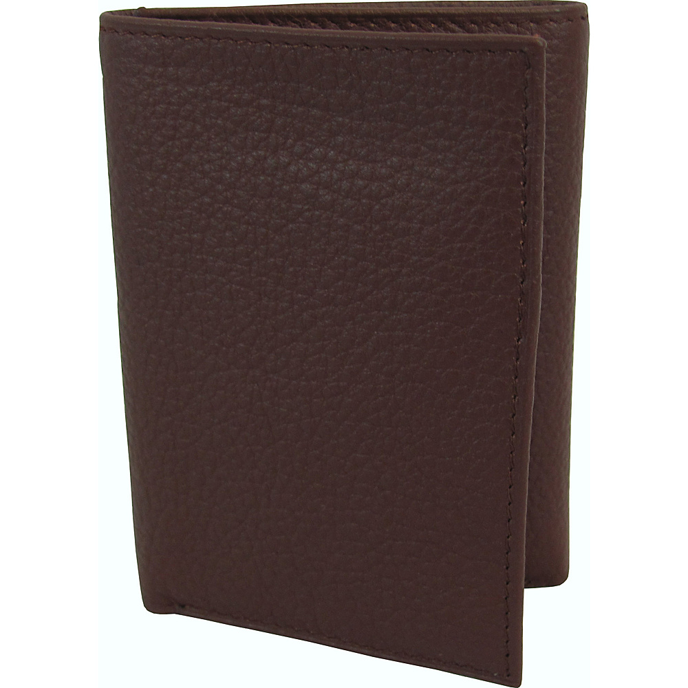 AmeriLeather Leather Tri Fold Wallet Brown - AmeriLeather Mens Wallets - Work Bags & Briefcases, Men's Wallets