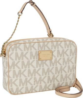 MICHAEL Michael Kors Jet Set 18K Large E/W Crossbody Vanilla - MICHAEL Michael Kors Designer Handbags