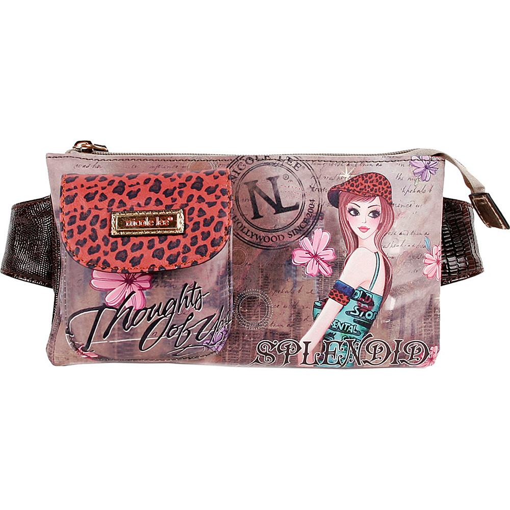 Nicole Lee Muneca Print Fanny Pack TINA Nicole Lee Waist Packs
