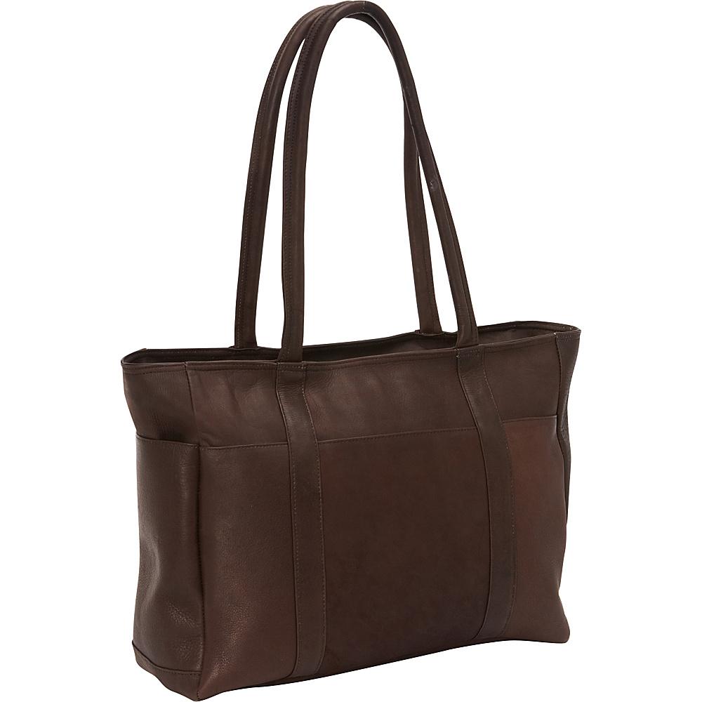 David King & Co. Multi Pocket Shopping Tote Cafe - David King & Co. Leather Handbags