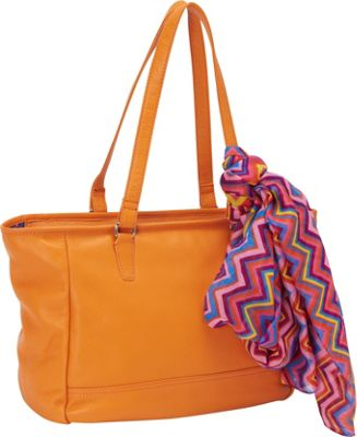 Hadaki Cosmopolitan Tote Russet - Hadaki Leather Handbags