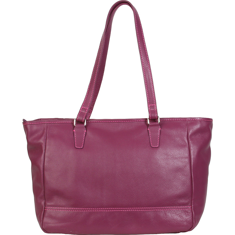 Hadaki Cosmopolitan Tote Plum - Hadaki Leather Handbags - Handbags, Leather Handbags