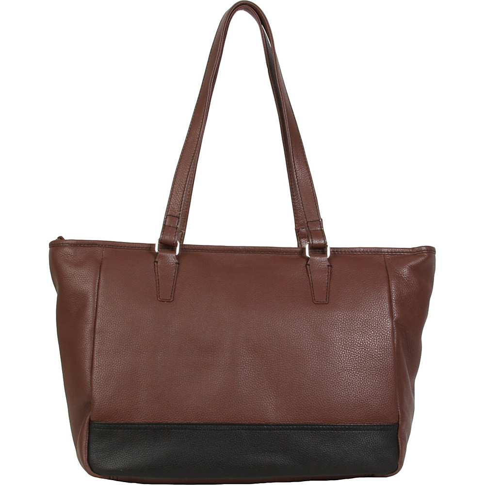 Hadaki Cosmopolitan Tote Cognac - Hadaki Leather Handbags - Handbags, Leather Handbags