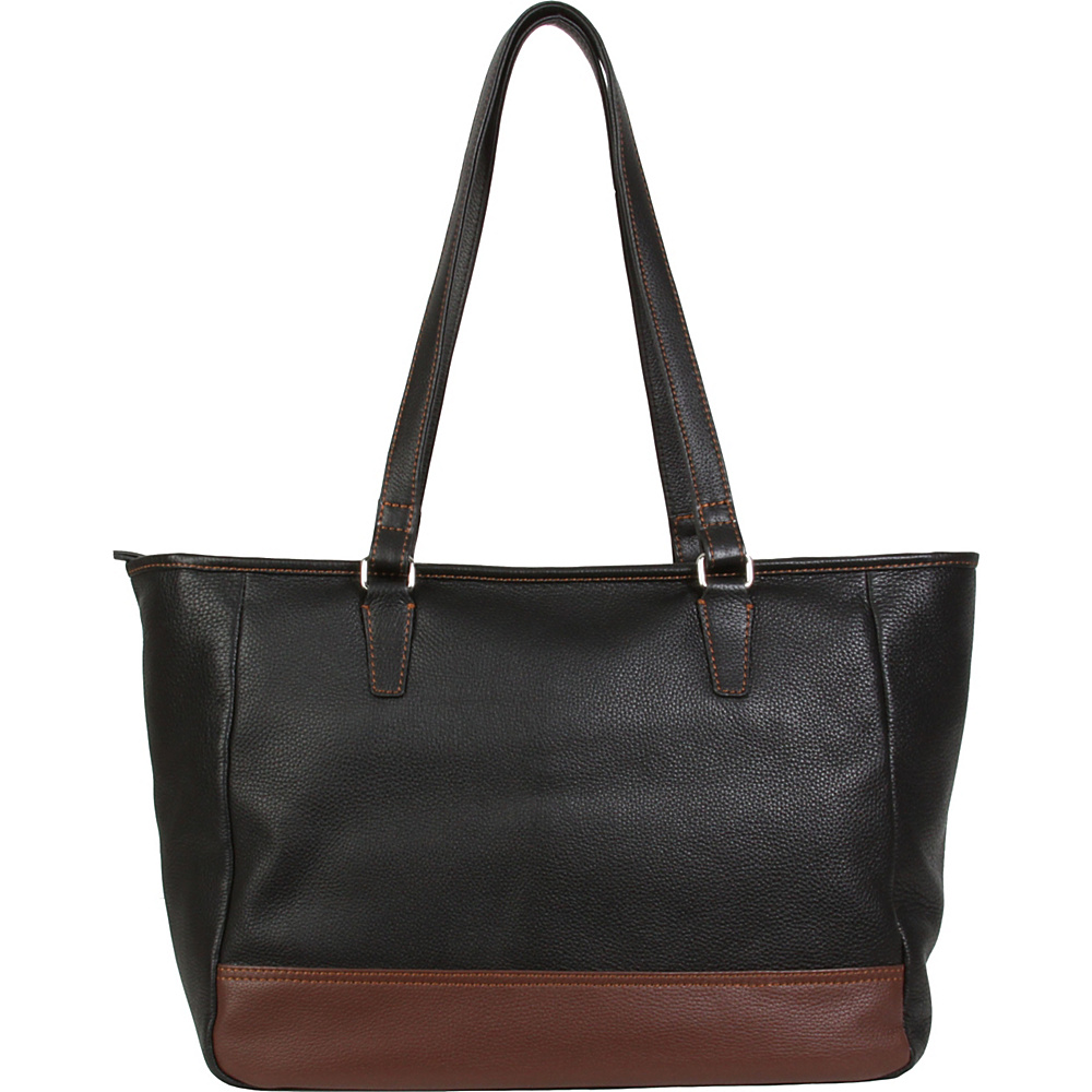 Hadaki Cosmopolitan Tote Black - Hadaki Leather Handbags - Handbags, Leather Handbags