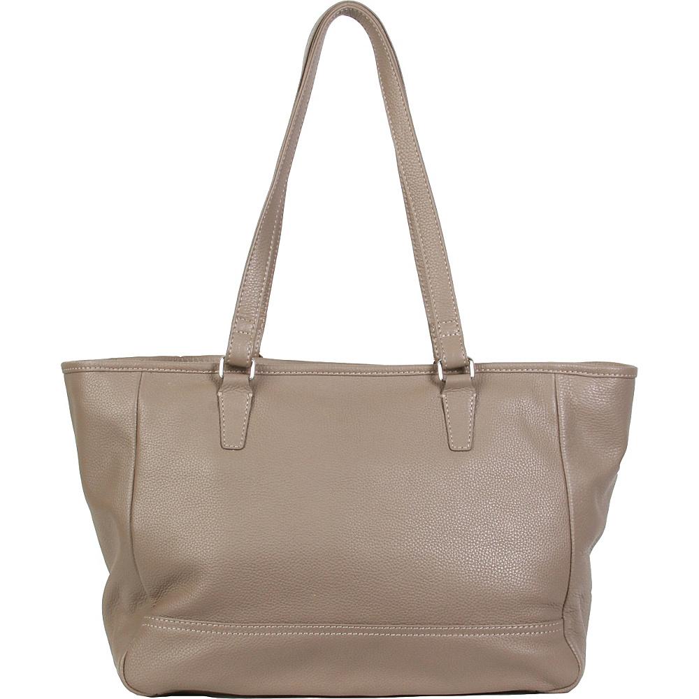 Hadaki Cosmopolitan Tote Taupe - Hadaki Leather Handbags - Handbags, Leather Handbags