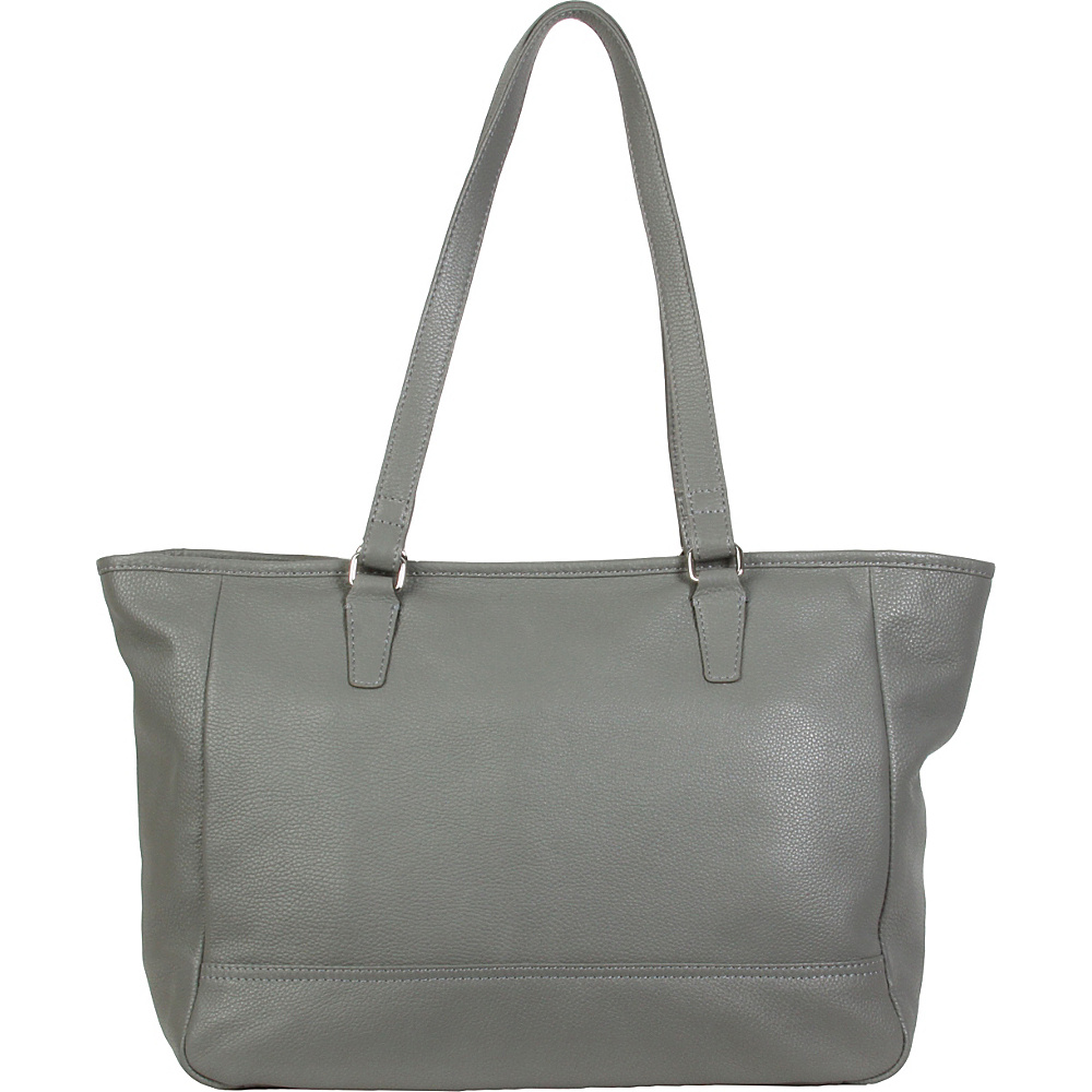 Hadaki Cosmopolitan Tote Pewter - Hadaki Leather Handbags - Handbags, Leather Handbags