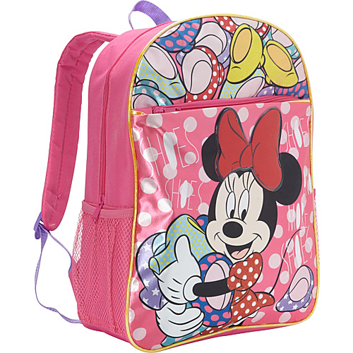 Disney Minnie Mouse Satin Backpack Pink - Disney School & Day Hiking Backpacks