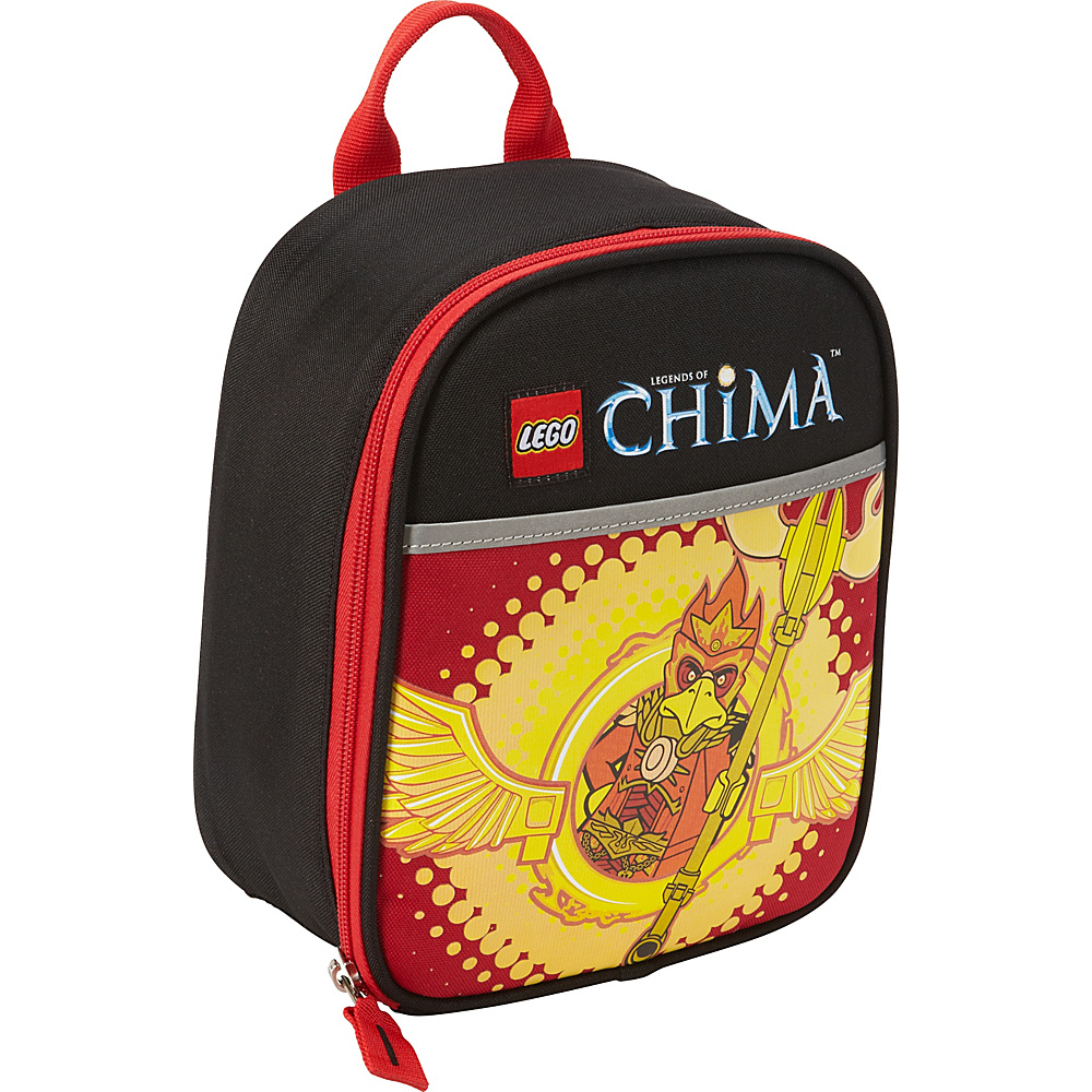 LEGO LEGO Chima Master of Fire Vertical Lunch Black LEGO Travel Coolers