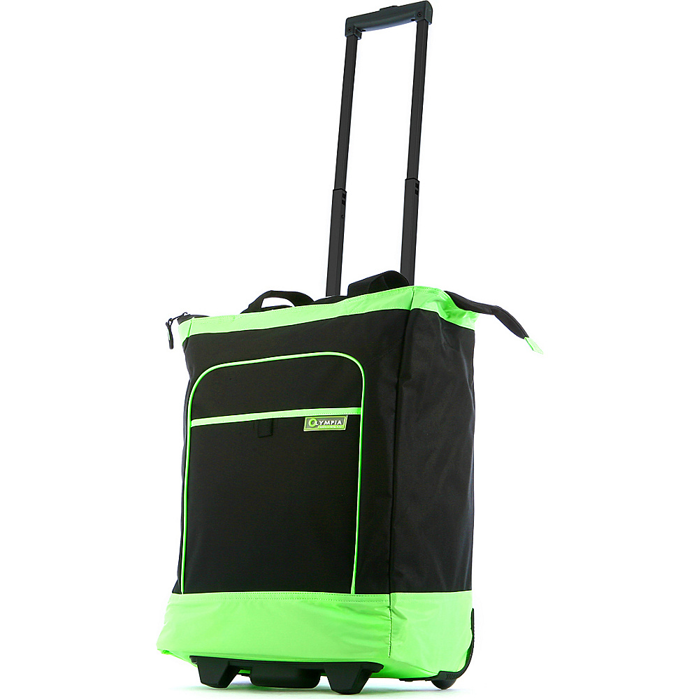 Olympia Deluxe Rolling Shopper Tote Lime - Olympia Small Rolling Luggage