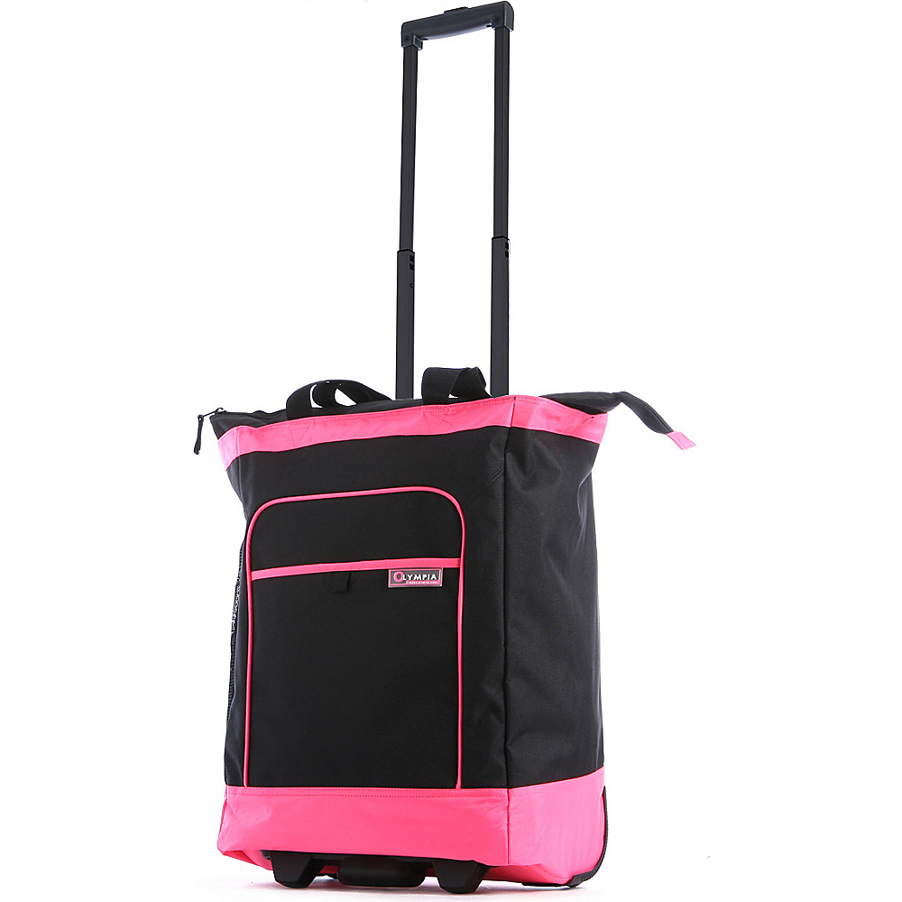 Olympia Deluxe Rolling Shopper Tote Pink - Olympia Small Rolling Luggage