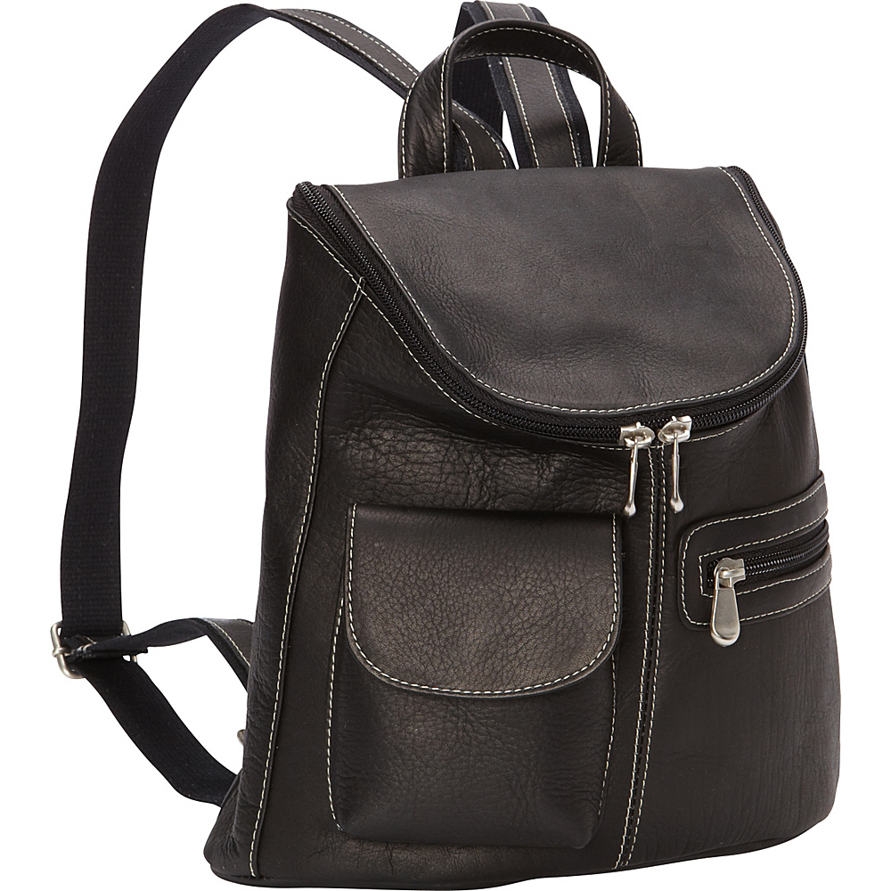 Le Donne Leather Lafayette Classic Backpack Black - Le Donne Leather Leather Handbags - Handbags, Leather Handbags