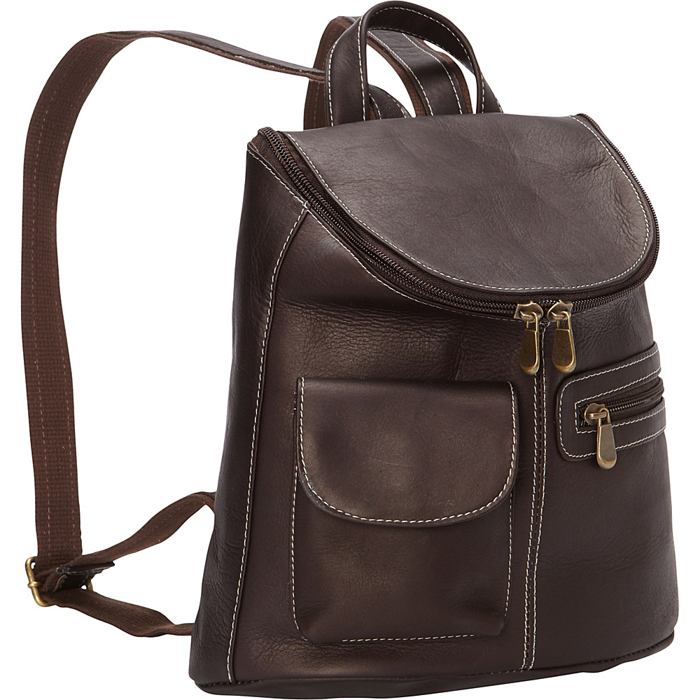 Le Donne Leather Lafayette Classic Backpack Cafe - Le Donne Leather Leather Handbags - Handbags, Leather Handbags